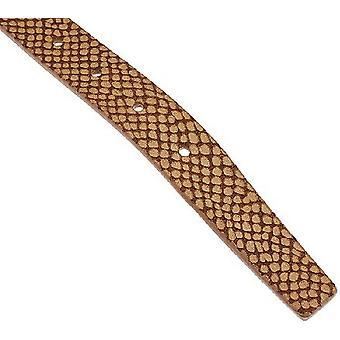 Isaac Mizrahi Live! Reversible Leather Strap Belt XL 1X Lt Brown Bone A264211