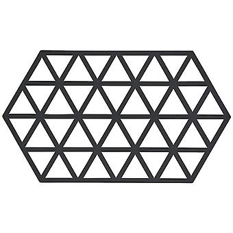 Zone Silicone Trivet, Black Triangles