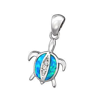 Turtle - 925 Sterling Silver Jewelled Pendants - W34309X