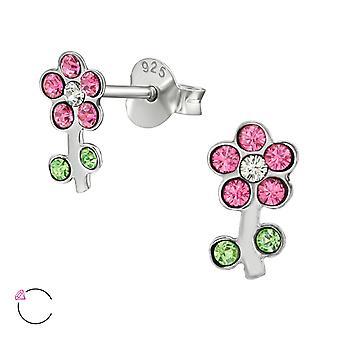 Flower Crystal From Swarovski® - 925 Sterling Silver Ear Studs - W39041x
