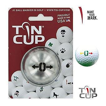 Tin Cup Golf Ball marcação sistema Alpha Players O