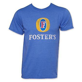 Foster's Beer Basic Logo Men's Heather Blue T-Shirt
