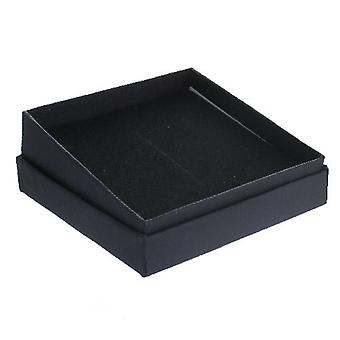 Black Gift Box with Foam Insert Flat Square