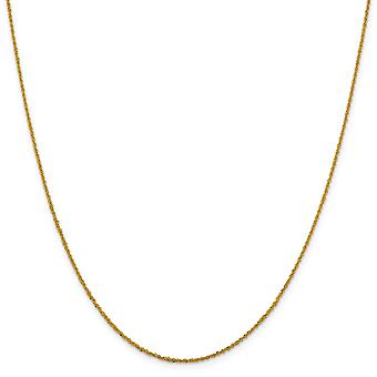 1.3mm 14k Yellow Gold Sparkle Cut Lobster Claw Closure Sparkle Singapore Chain Necklace Jewelry Gifts for Women - Length