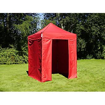Vouwtent/Easy up tent FleXtents Basic v.2, 2x2m Rood, inkl. 4 Zijwanden