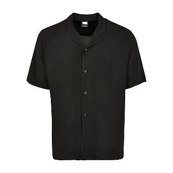 Urban Classics Camicia A maniche corte da uomo Viscose Resort