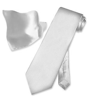 Biagio 100% zijden effen stropdas zakdoek mannen nek stropdas Set