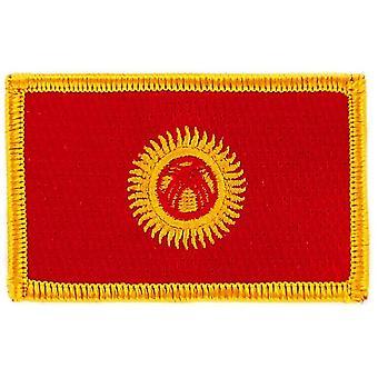 التصحيح Ecusson برود العلم قيرغيزستان الشارة الحرارية القيرغيزستان