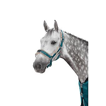 Eskadron Classic Sports Double Pin Faux Fur Headcollar - Teal Blue