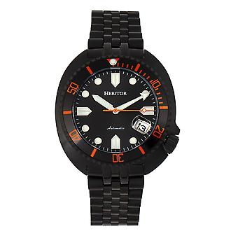 Heritor Automatic Morrison Special Edition Bracelet Watch w/Date - Black