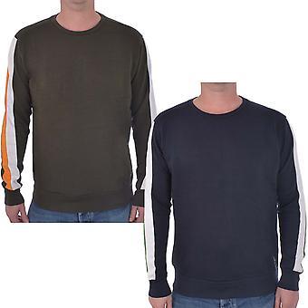 Brave Soul mens Unite Långärmad Crew hals casual Pullover Jumper tröja