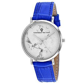 Christian Van Sant Women's Lotus White Dial Watch - CV0420