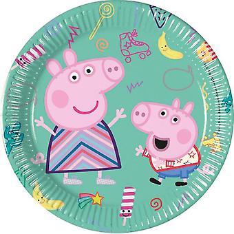 Greta Gris | Peppa Pig Assietter | Papperstallrikar 8-pack