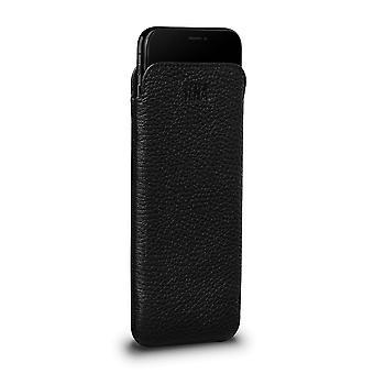 IPhone 8 Plus / 7 Plus Leather Cover True Black