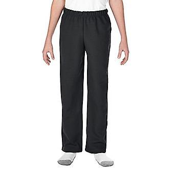 Gildan unisex-kind Little Open Bottom Jugend Sweatpants, schwarz, Größe klein