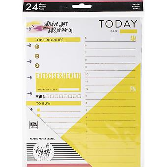 Gelukkig planner medium vulling papier 24/pkg-super mom folie