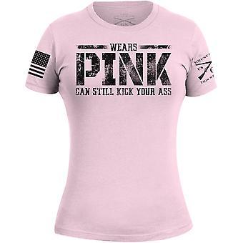 النهوت نمط المرأة & s ترتدي الوردي، ركلات Ass تي شيرت - الوردي