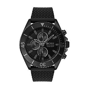 Hugo Boss ATHLEISURE 1513699 - Uhr Chronograph Stahl Armband Silikon schwarz schwarzer