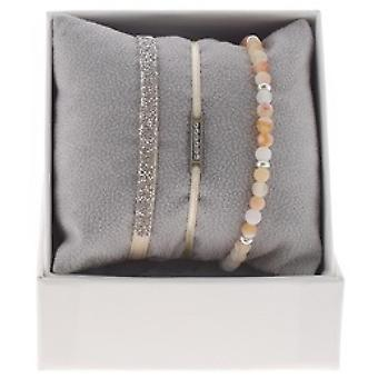 Box interchangeable A48545 - Box Mini plate line Palladium ornaments rhinestone / Crystal woman