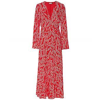 RIXO Sonja Long Sleeve Midi Dress