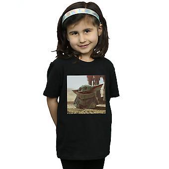 Star Wars tytöt Mandalorian lapsi kohtaus T-paita