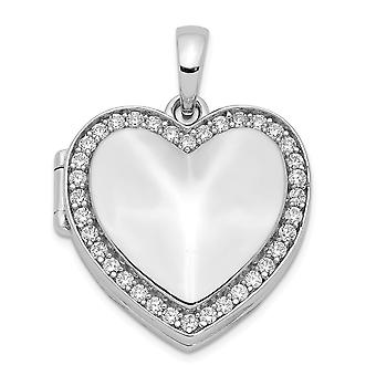 925 στερλίνα ασημένια CZ κυβικά Zirconia προσομοιωμένα Diamond 23 mm αγάπη καρδιά Photo μενταγιόν κολιέ κρεμαστό κόσμημα κοσμήματα για