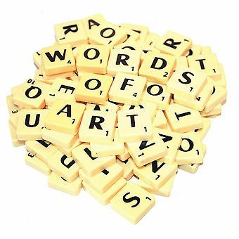 A-Z Plastic Scrabble Tegels Alfabetleert letters met score nummers