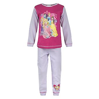 Disney Princess Girl's Kids Long Sleeve Pink Pyjamas Nightwear Set