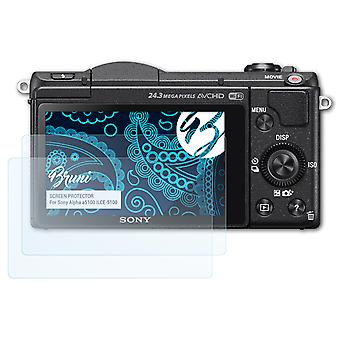 Bruni 2x Screen Protector compatible with Sony Alpha a5100 ILCE-5100 Protective Film