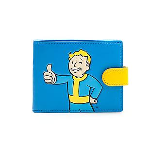 Fallout 4 Vault Boy Aprobado Bi-fold Monedero Azul /Amarillo Coin Pouch (MW040203FOT)