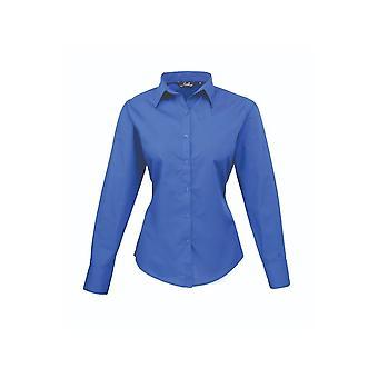 Premier long sleeve poplin blouse pr300 blue colours