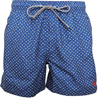 Ted Baker Ditsy Print Swim Shorts, Bright Blue