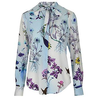 Stella Mccartney 600347soa108489 Women's Light Blue Silk Blouse
