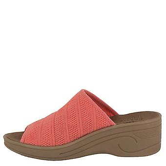 Easy Street Womens Airy Fabric Open Toe Casual Platform Sandals