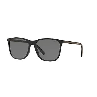 بولو رالف لورين PH4143 528487 ماتي الأسود / النظارات الشمسية الرمادية الخفيفة