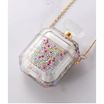 Perfume bottle for airpod cases with liquid glitter!