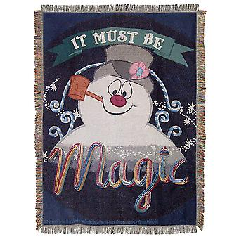 Woven Tapestry Throws - Frosty The Snowman - It's Magic New 026091