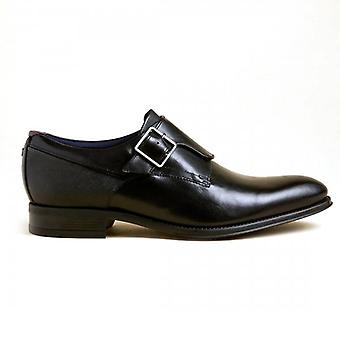 Ted Baker Carmo Black Leather Single Buckle Smart Shoes