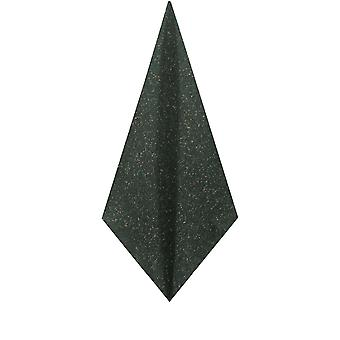 Dobell Mens Dark Green Flecked Donegal Tweed Pocket Square Handkerchief Wool Blend