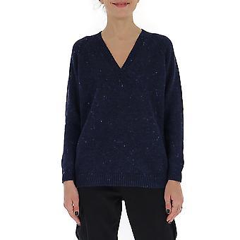 Gentry Portofino D649gtg0006 Women's Blue Cotton Sweater