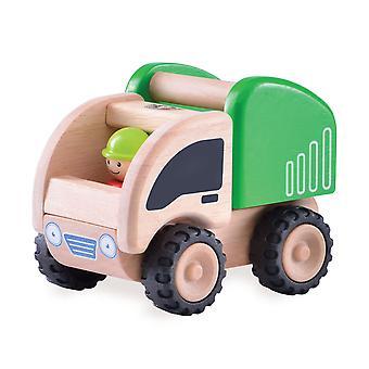 Wunderwelt aus Holz Mini-Müllwagen