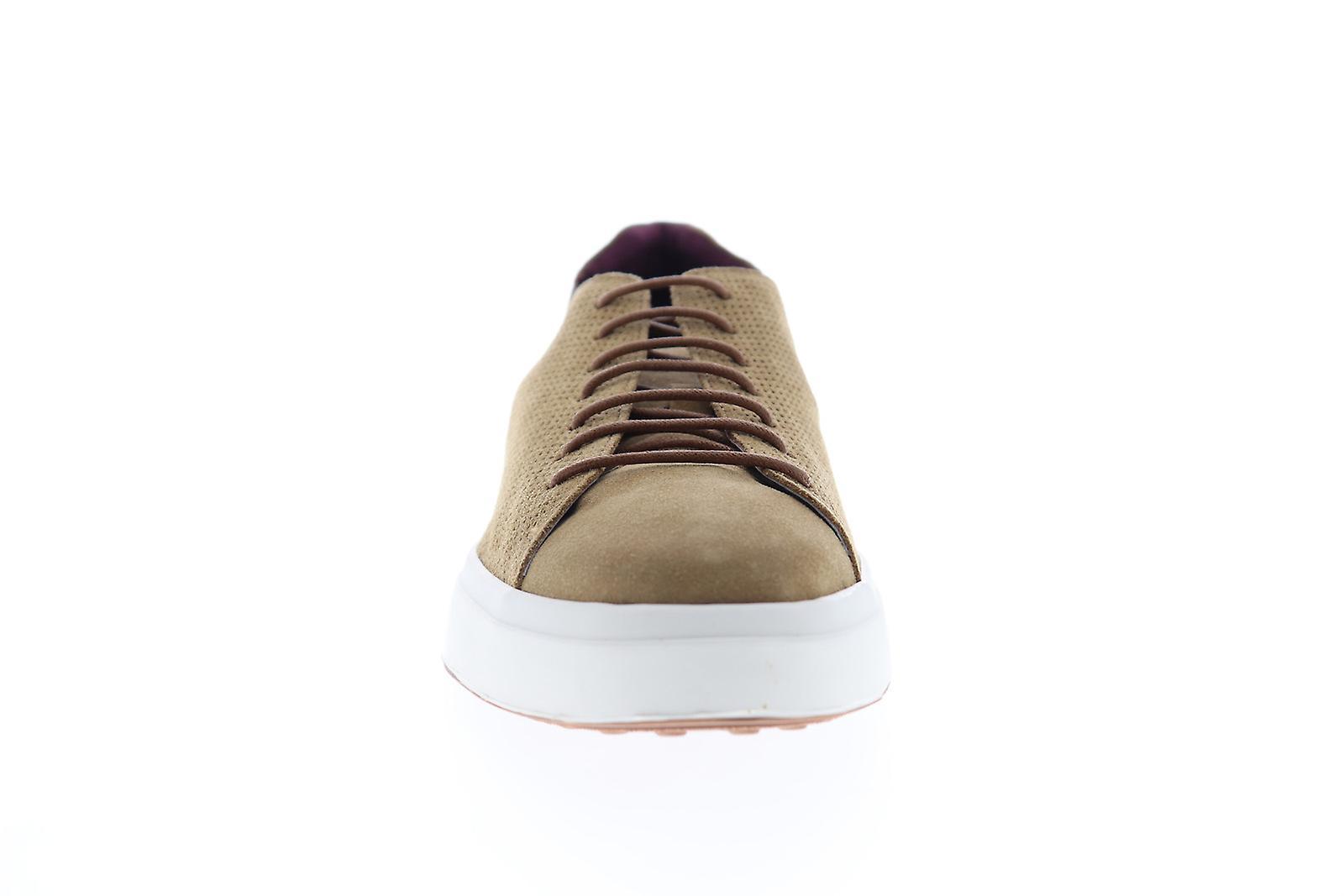 Zanzara SOL Mens Brown Mocka spets upp låg topp sneakers skor