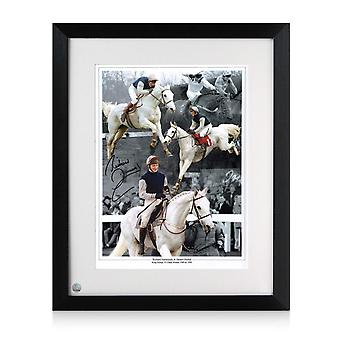 Richard Dunwoody Signed Horse Racing Photo: Desert Orchid. Framed