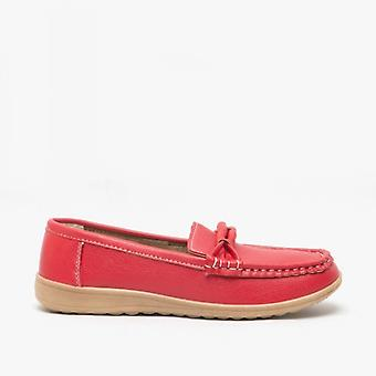 Amblers Paros Ladies Loafers Red