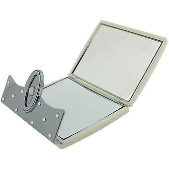 Compact Mirror Pearl Stunning Fold Over Travel Mirror 7X Magnification from FMG Made With Swarovski Crystals SC1314