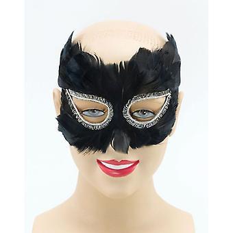 ブラックフェザー マスク