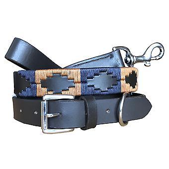 Carlos diaz genuine leather  polo dog collar and lead set cdhkplc67
