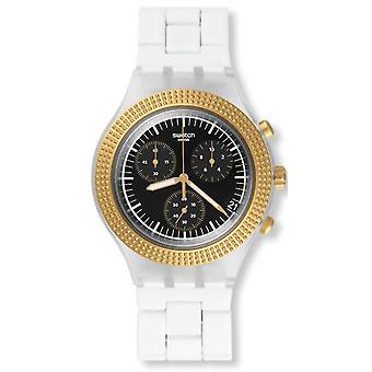 Swatch SVCK4081AG  Male White Aluminum 43MM Quartz Analog Chronograph Watch