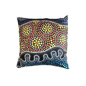 Seaside Aboriginal Design Cushion Cover