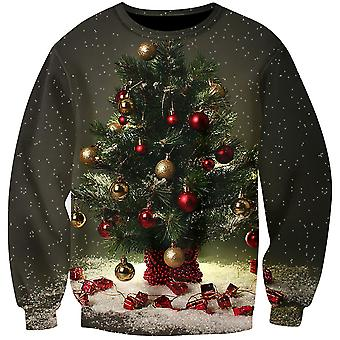 Allthemen Men's 3D Sweatershirt Christmas Tree Round-Neck 3D Pullover Sweatershirt